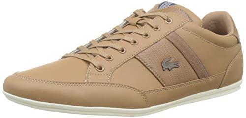 Lacoste Herren Chaymon 319 1 CMA Sneaker, Braun (Light Brown/Navy Lr3), 43 EU