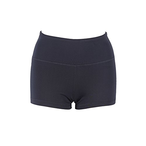 FeelinGirl Frauen Damen Sport Hose Pants Jogging Yoga Strumpfhosen Jogginghose Hosen Leggings Schwarz kurz