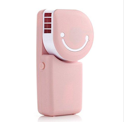 Preisvergleich Produktbild kimberleystore Portable Mini Cool Air Conditioner USB wiederaufladbare Outdoor Travel Handheld Cooling Fan (Pink)