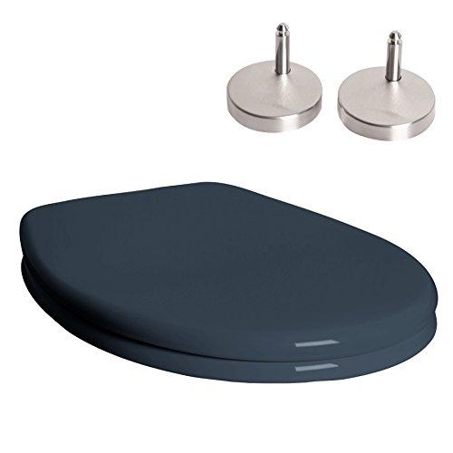 WC Sitz mit Deckel und Softclose in anthrazit ink. Edelstahlscharniere Absenkautomatik Deckel