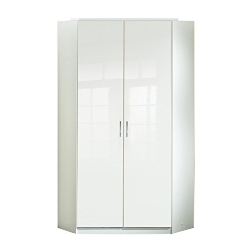 Wimex Kleiderschrank/ Eckschrank Clack, (B/H/T) 95 x 198 x 95 cm, Weiß - Weißer Eckschrank