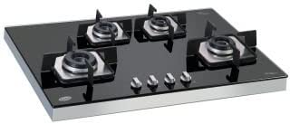 GLEN Stainless Steel Burner Hobtop -(Black)-4pcs
