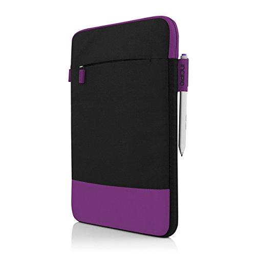Incipio Asher vertikale Tasche für Microsoft Surface 3 - von Microsoft zertifizierte 2-farbige Nylon-Schutztasche inkl. Außentasche - schwarz/rot schwarz/lila