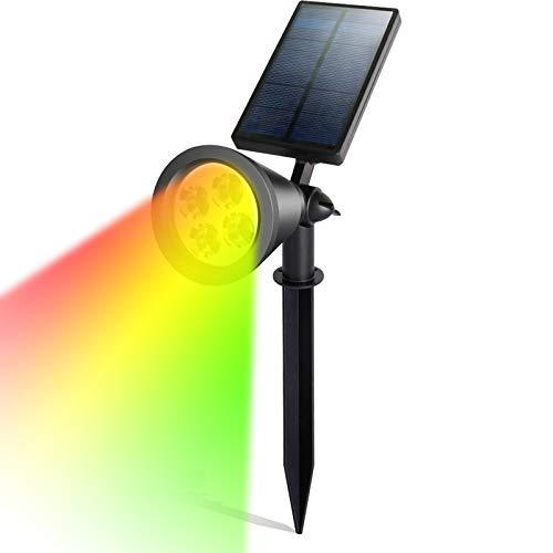 YUCH Projecteur Solaire A Mené La Lampe De Mur Imperméable Extérieure De Pelouse, Cai