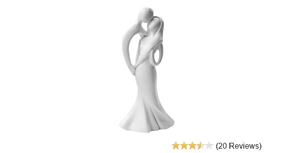 Brautpaar Kussendes Hochzeitspaar 10 Cm Weiss Moderner Stil