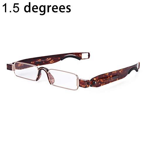 Yiph-Sunglass Sonnenbrillen Mode Tragbare faltende 360   Grad-Umdrehungs-presbyopische Lesebrille mit dem Stift-Hängen, 1.50D (Artikelnummer : Og4376sz)