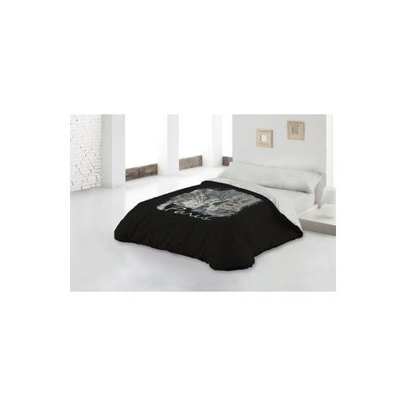 Style Javier Larraínzar–Bettbezug, aus Polycotton, 150/170, schwarz und grau