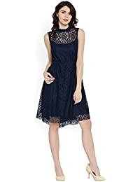 Rare Women's A-line Dress (EP1638-XL, Blue, X-Large)