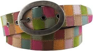FOSSIL REAL LEATHER QUILTED SQUARES IN BRIGHT MULTICOLOUR L