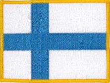 Klicnow Finlandia Bandera Bordada Parche