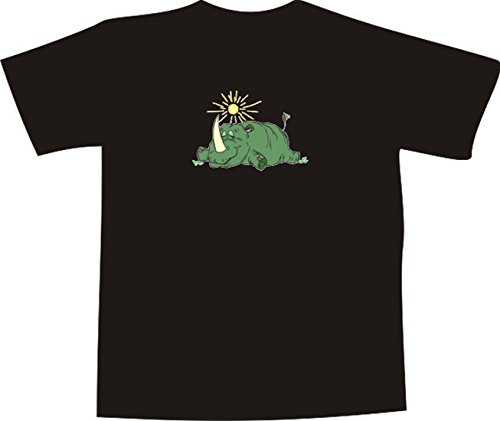 T-Shirt E888 Schönes T-Shirt mit farbigem Brustaufdruck - Logo / Grafik -