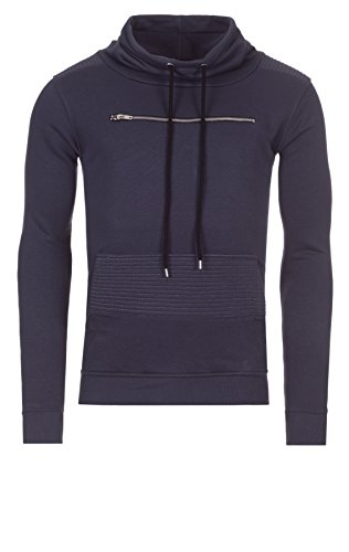 Yazubi Herren Sweatshirt Hoodie Kallari Zipped Chest Pocket anthra (10003)