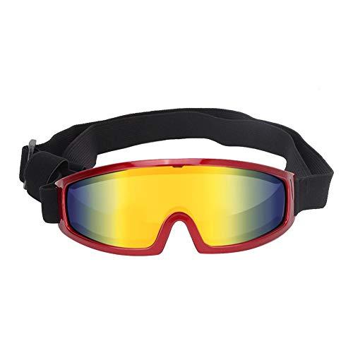 Bicaquu Hund UV-Schutzbrille Sonnenbrille Pet Decoration Eyes Schutzzubehör für mittelgroße und große Hunde(rot)