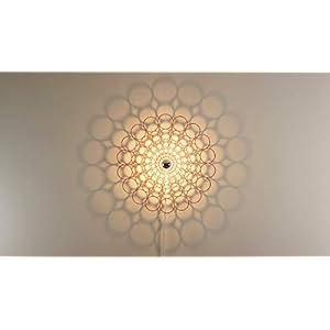 Wandleuchte Schattenbild Bubbles - Holz Ornament - Schatten Deckenleuchte