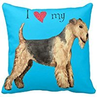 I Love My Lakeland Terrier Pillow Case