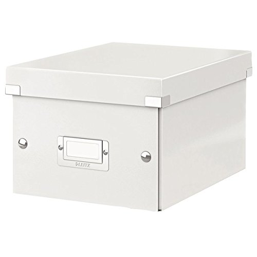 Leitz, Kleine Aufbewahrungs- und Transportbox, Weiß, Mit Deckel, Für A5, Click & Store, 60430001