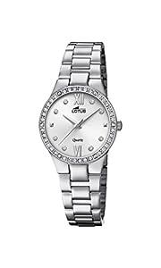 Lotus Watches Reloj Análogo clásico para Mujer de Cuarzo con Correa en Acero Inoxidable 18460/1