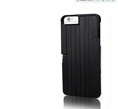 L&zrselfie stick extendable3 in 1 custodia per iphone 6/7/8 p custodia a libro per selfie self-timer copertura posteriore in alluminio retraibile (nero),black