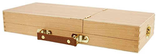 Artists Wooden Storage Box Organiser for Paint Brushes Drawing Pencils & Tools HX31