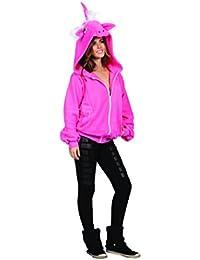 RG Costumes Women's Diva The Pink Unicorn Hoodie