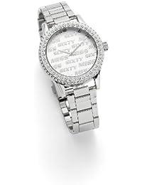 Miss Sixty Just time SR4003 - Reloj de mujer de cuarzo, correa de acero inoxidable color plata