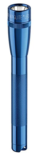 Mini Maglite 2AA LED-Taschenlampe, 97 Lumen, 17 cm blau inkl. 2 Mignon-Batterien und Nylonholster, SP2211H
