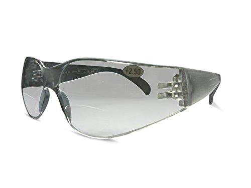 Bifokal Sicherheit High Impact Brillen und Sonnenbrille klar oder hellbraun Objektive UV-Schutz, transparent