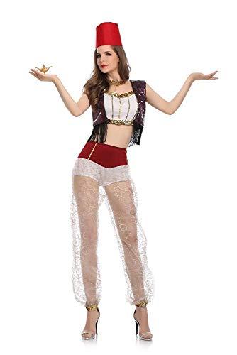 Mädchen Blühen Kostüm Hexe - Shisky Cosplay kostüm Damen, Einheitliche Cos Halloween Outfit Kostüm Belly Dance Performance Kostüm aufgeteilt