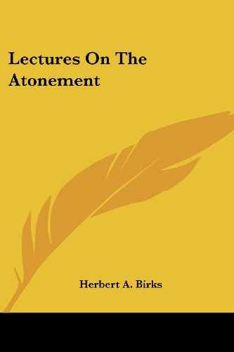 Lectures on the Atonement