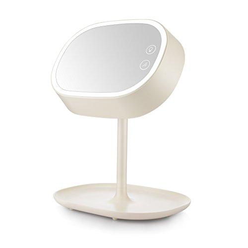 Trucco illuminato Specchio, Specchio da toilette ricaricabile con luci e