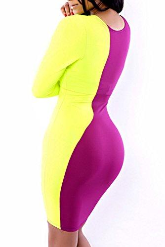 E-Girl femme Violet SY6337 mini robe Violet