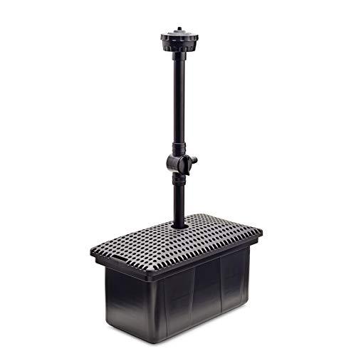Aquanique Unterwasser Teichfilter UF 3000, Teichfilter Set mit Wasserspiel und Pumpe, für bis zu 3000 l geeignet