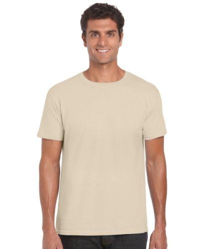 Gildan 64000 Mens Short Sleeve Softstyle T-Shirt Tee Sand