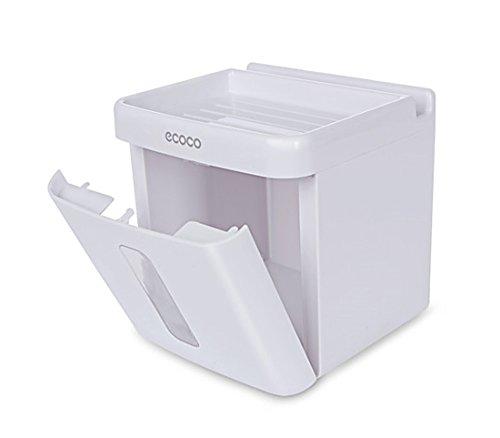 blissuk–Wandhalterung Toilettenpapierhalter, Hohe Qualität ABS Badezimmer Papier Tissue Halter mit Handy-Aufbewahrung Regal (Western-handy-halter)