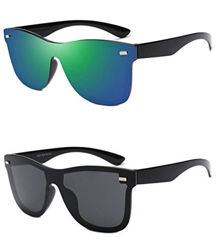 Aoweika Unisex Retro Polarisierte Damen Sonnenbrille Herren Sonnenbrille Überziehbrille Outdoor UV 400 Brille Korrekturbrille für Fahren Angeln Reisen In 2 Stücken