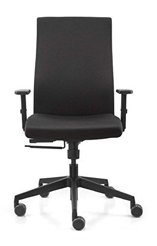 Dauphin Trend Office Valo Strike Plus Comfort VO 9248 Bürodrehstuhl, Bürostuhl, Chefsessel, Schwarz, Vollpolster Rückenlehne, integrierte Lumbalstütze, Neu
