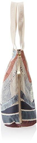 Gattinoni Gacar0000045, Borsa a Spalla Donna, 13x36x34 cm Multicolore (Cipria)