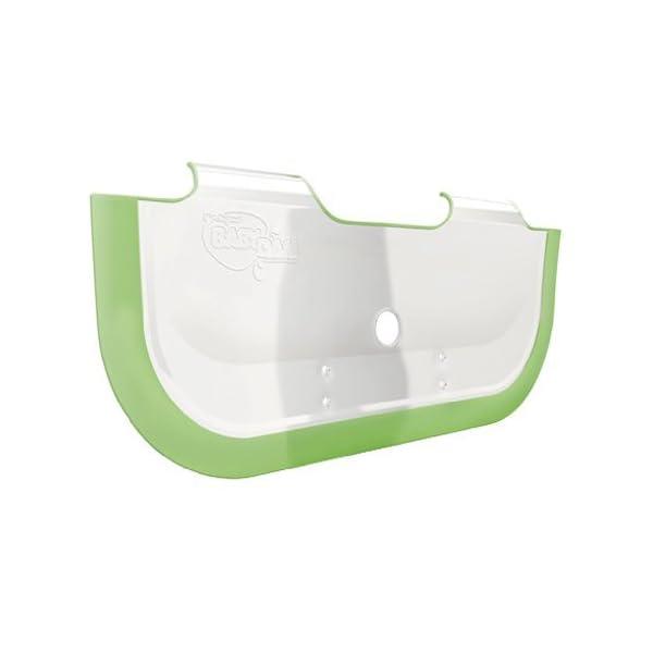 BabyDam Bathwater Barrier (White/Green) 1