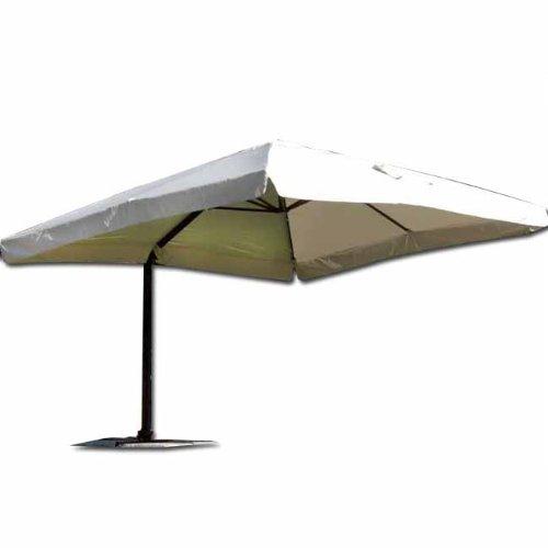 My garden ombrellone senso flap 3x3, ecru, metri