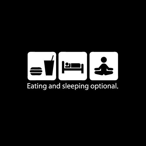 TEXLAB - Eat. Sleep. Yoga - Langarm T-Shirt Weiß