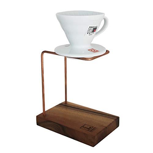 Leanback Industries Kaffeebereiter Kupferdraht und Holz - Pour Over Coffee Stand (Kirschbaum, ohne Filter)