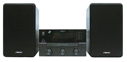 Neon Electronic MCB1536D-12 Micro Hi-Fi System Plays CD with USB Connection ,Bluetooth and MP3/FM+RDS for DAB+