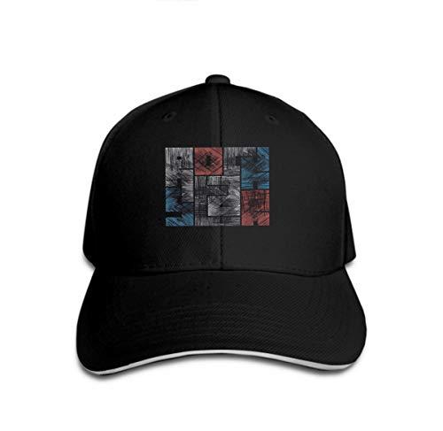 Star Rock Kostüm Tiger - Classic Cotton Hat Adjustable Plain Cap, Baseball Cap Adjustable Size Curved Visor Hat Rock Star Typography Grunge Effect Concept Vintage Style pr