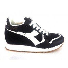 20117058701C0641 Diadora Heritage Sneakers Damen Stoff Schwarz Schwarz