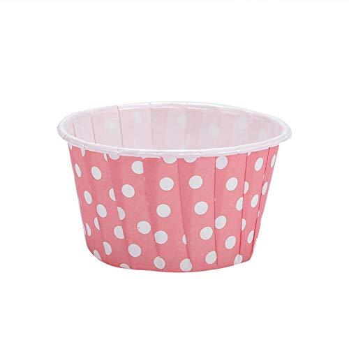 wischenlagen Papier runde Antihaft Kuchen Backschalen Muffin Kästen Nahrungsmittelgrad Hauptpartei Hochzeits Geburts(Rosa) ()
