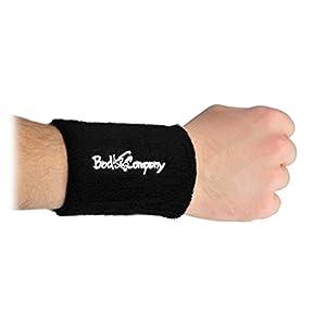 Bad Company Pro Kettlebell Unterarmschutz I 2er Set Protektoren mit Hartplastik-Einlage I Armschutz für das Kettlebelltraining – Schwarz
