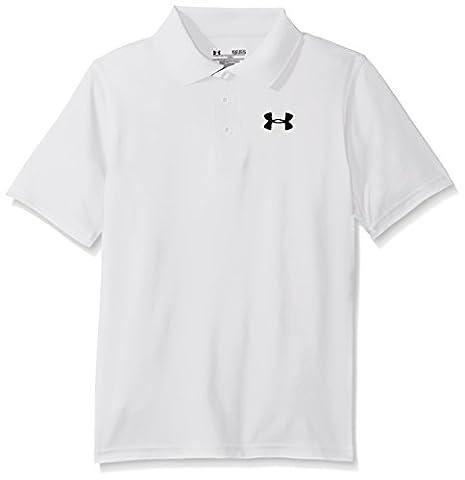 Under Armour Junior Golf Match Play Polo Shirt White white