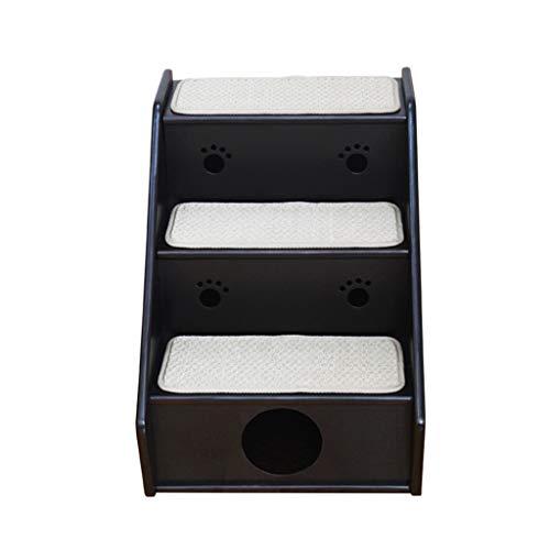 KJZ Schlafzimmer Leiter, Pet Indoor Drei-Stufen-Leiter aus Holz zwei Schritt Leiter Haustier Katze Litter Pet Boarding Ladder (größe : 43 * 60 * 52CM)