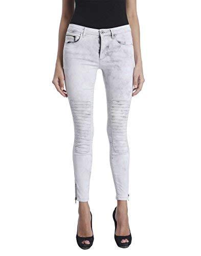 ONLY Damen Jeans Leggings ROYAL REG SK Ankle Race PIM 403 Biker grau Denim  (XL L34) c942d117d4