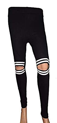 sm ankle length black-white lining leggings for women - leggings online -Best Quality Legging - Ankle Length- Original -stretchable rib material ankle length only for girls / Women -Size- (freesize upto 34waist) (black, Free Size)